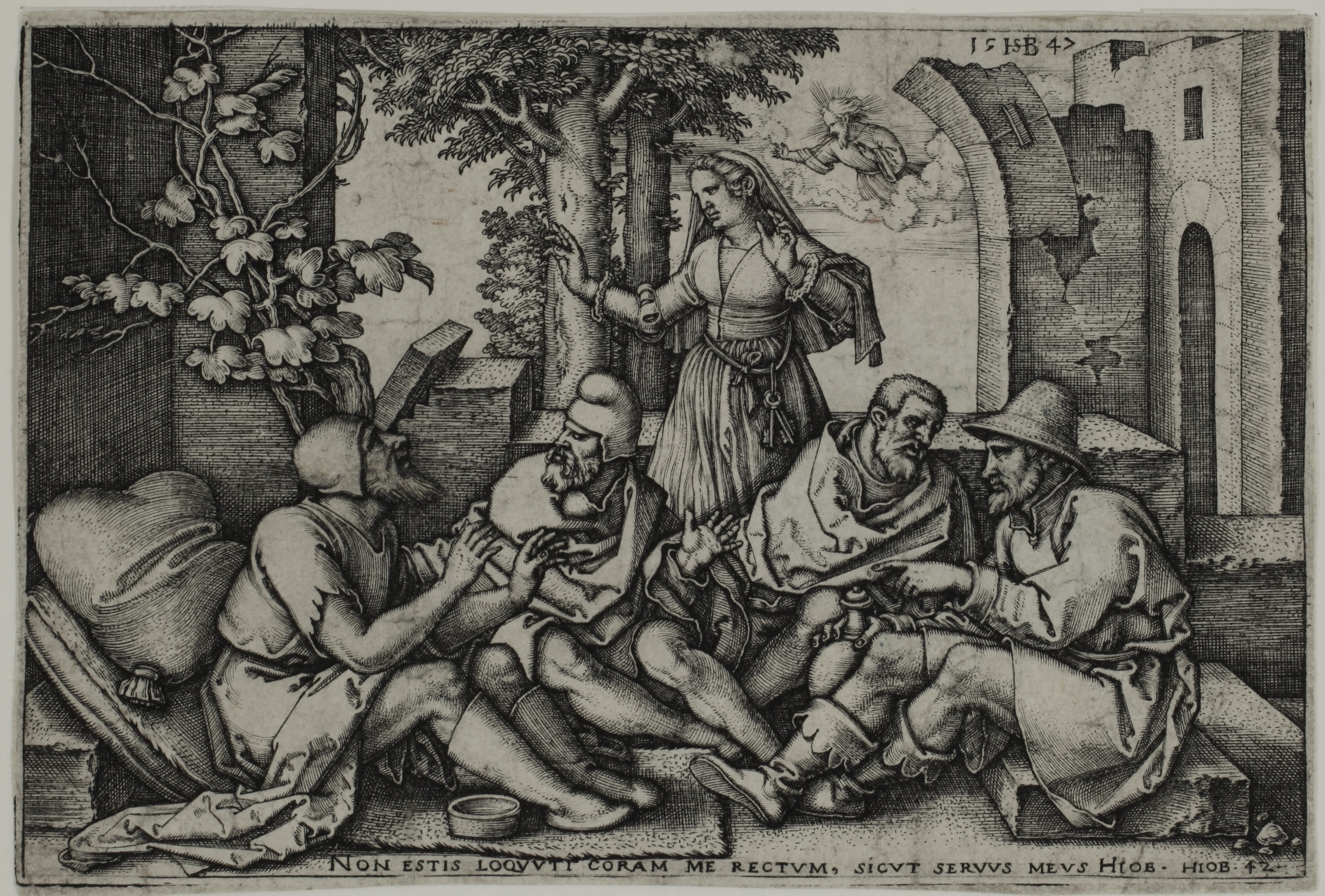 Hans Sebald BEHAM : Job conversing with his Friends - 1547