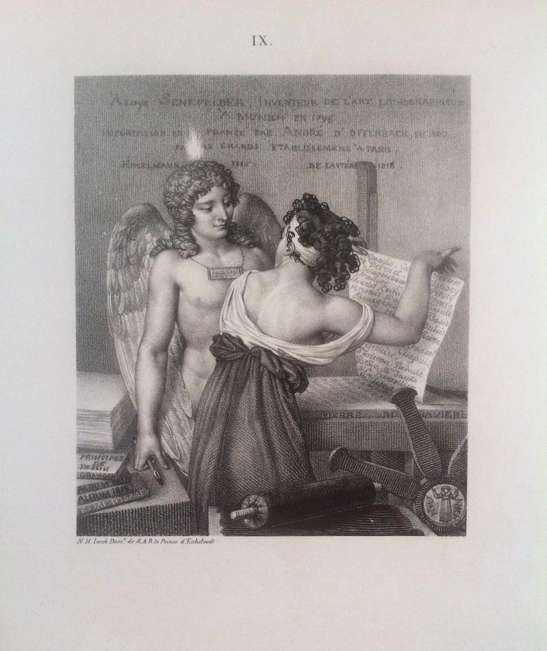 Nicolas Henri JACOB Le Génie de la lithographie 1819